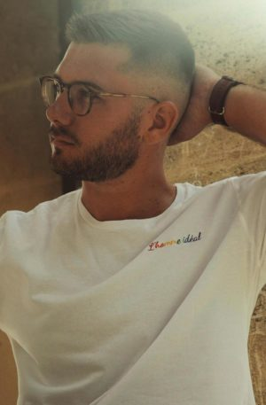 tee shirt blanc homme ideal