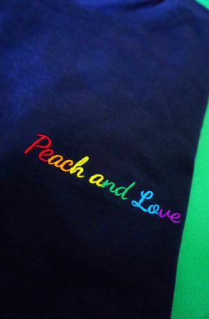 tee shirt peach and love