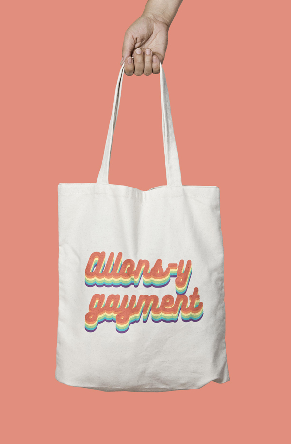 tote bag allons y gayment